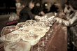 Wineglasses on bar counter - 60858758