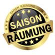 """Button mit Banner """" SAISONRÄUMUNG """""""
