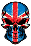 UK flag painted on a skull