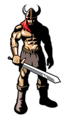 Viking warrior with big sword