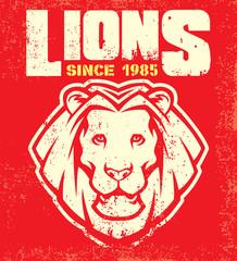 Vintage lion mascot