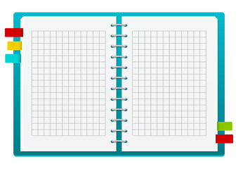 Blue notebook with place for Your text