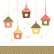 Colorful Birds houses isolated on white. Vector
