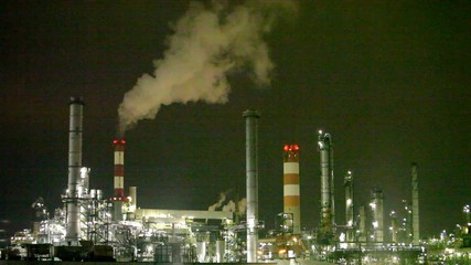 Oil refinery, factory