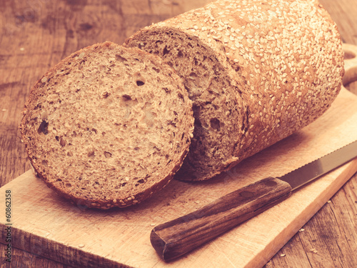 Healthy Bread on Plank