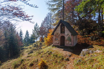 Kranzhorn, Kranzhornkapelle St. Josef, Herbst, Laubfärbung