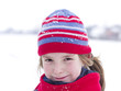 Winter portrait of little girl