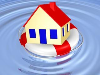 Sicherung des Eigenheims, Hochwassergefahr