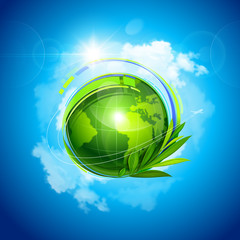 Green Planet. Vector