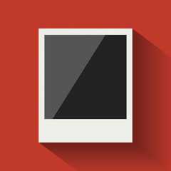 Polaroid photo frame. Flat design.