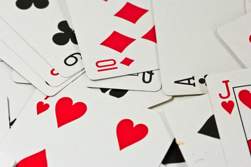 Playing cards isolated on background