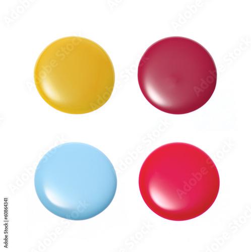Group of nail polish isolated on white - 60864341
