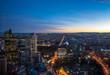 A view of Melbourne at dusk, Victoria, Australia
