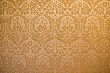 Damask fabric wall cover background