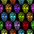 Colorful Skulls seamless pattern