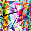 abstract background composition, with strokes, splashes and tria