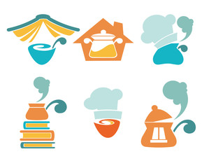 cooking equipment and home made food symbols