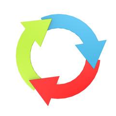 Color arrow circle