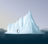 Iceberg with penguin
