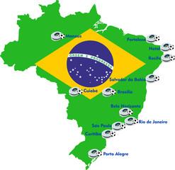 Brazil soccer stadium map
