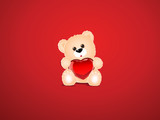 Saint Valentine's background with a teddy bear