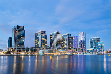 Apartment buildings in the Docklands aea of Melbourne, Australi