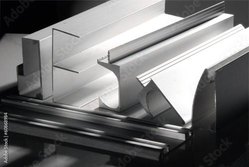 Leinwandbild Motiv Aluminum profile