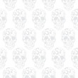 Skull floral seamless pattern