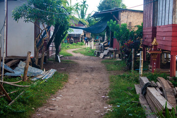 Village on Don Det island in Mekong, Laos