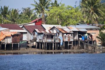 Stilt houses in Kampot, Cambodia