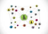 Social Media Circles Network Icon