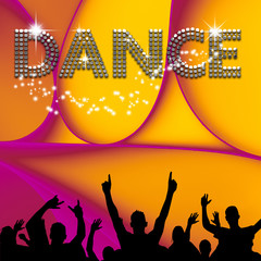 Dance  poster abstract ellipses