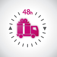 Livraison 48H - Illustration vectorielle