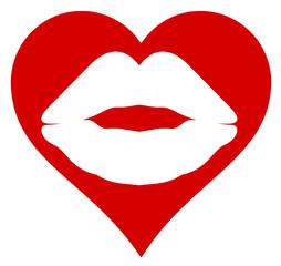 Herz Kussmund