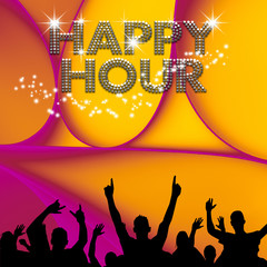 Happy Hour poster abstract ellipses