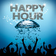 Happy Hour poster underwater bubble