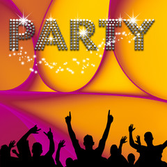 Party  poster abstract ellipses