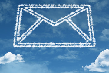 Mail shape on clouds