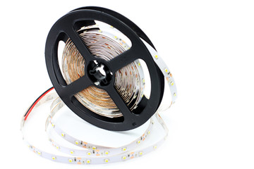 led strip tape convolute on the plastic spool