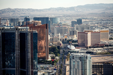 Aerial view of Las Vegas