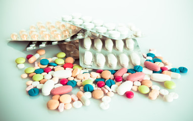 Colored pills