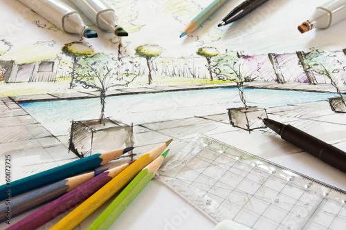 canvas print picture Gartenplanung