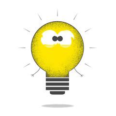 Grunge light bulb monster