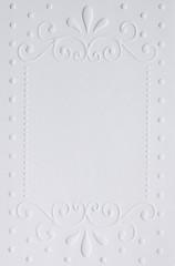 White embossed paper