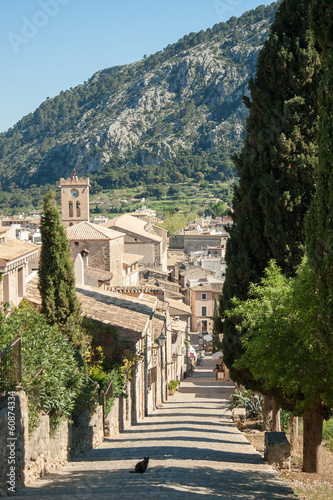 canvas print picture Way down the calvary at Pollenca, Mallorca, Spain