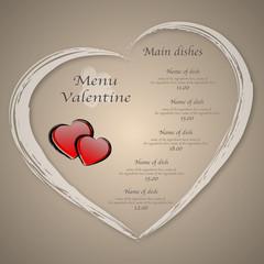 Menu Valentine