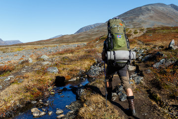 Backpacking in the north of Sweden