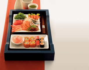 A collection of sushi