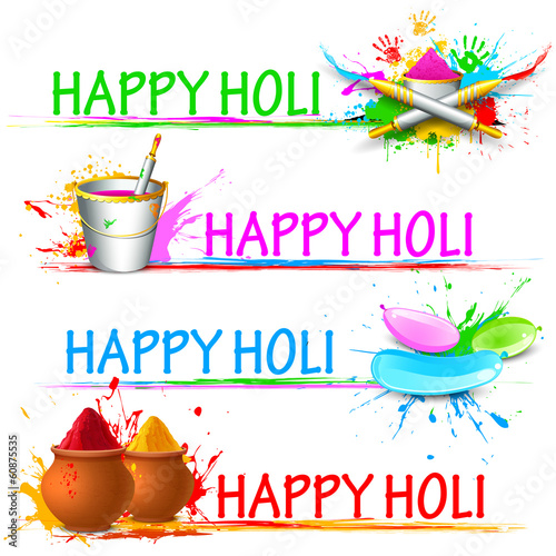 Colorful Happy Holi