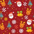 Christmas pattern reindeer santa